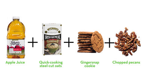 delicious 4-ingredient gingersnap oatmeal