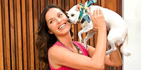 Dog breed, Dog, Carnivore, Happy, Tooth, Collar, Companion dog, Sleeveless shirt, Canidae, Blond,