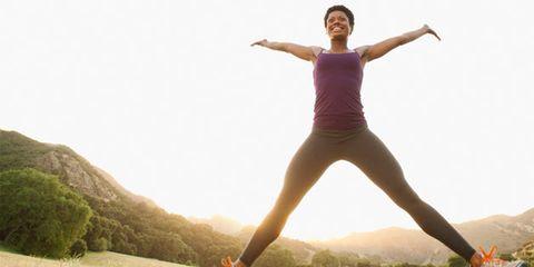 Leg, Human leg, Shoe, Happy, Leisure, Active pants, Landscape, People in nature, Elbow, Exercise,