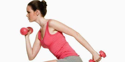 Finger, Shoulder, Elbow, Chest, Human leg, Joint, Sports equipment, Wrist, Sportswear, Red,