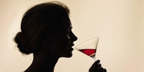 Lip, Hairstyle, Neck, Martini glass, Throat, Portrait photography, Portrait,