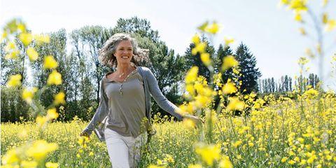 Yellow, Plant, Flower, Happy, People in nature, Wildflower, Meadow, Spring, Field, Garden,
