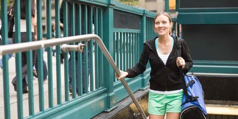 Shoulder, Bag, Teal, Travel, Luggage and bags, Turquoise, Baluster, Handrail, Snapshot, Blond,