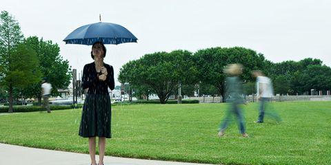 Grass, Umbrella, Street fashion, Park, Lawn, Dome, Dome,