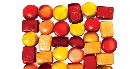 Amber, Ingredient, Confectionery, Sweetness, Dessert, Cabanossi, Food additive, Fast food,