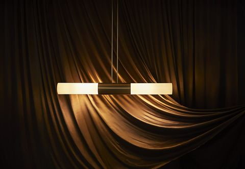 Light, Lighting, Line, Light fixture, Darkness, Metal, Interior design,