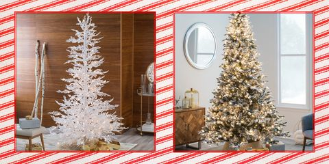 artificial christmas trees decorating ideas - Christmas Gift Decorations