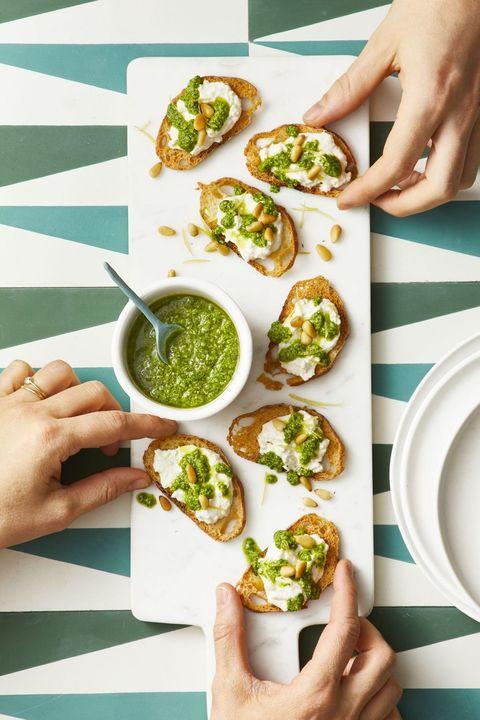 New Year's Eve Appetizers - Arugula Pesto