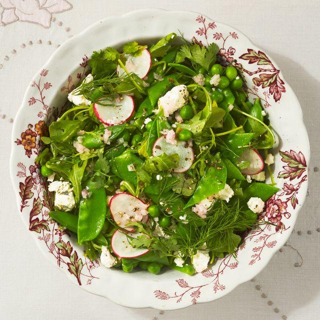 arugula three pea salad