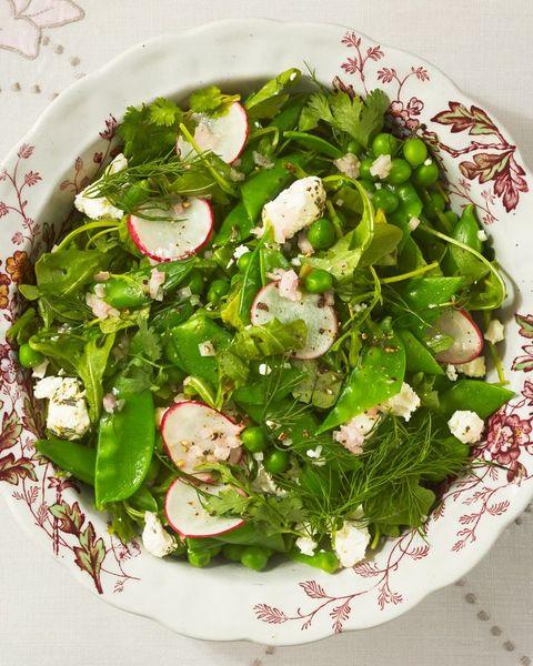arugula threee pea salad