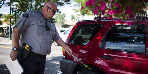 PoliceChalking Tires