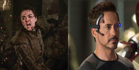 Arya y Tony Stark