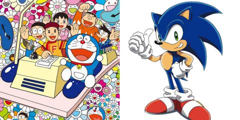 Cartoon, Animated cartoon, Sonic the hedgehog, Clip art, Fictional character, Illustration, Fiction,
