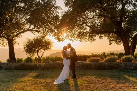le couple au coucher du soleil