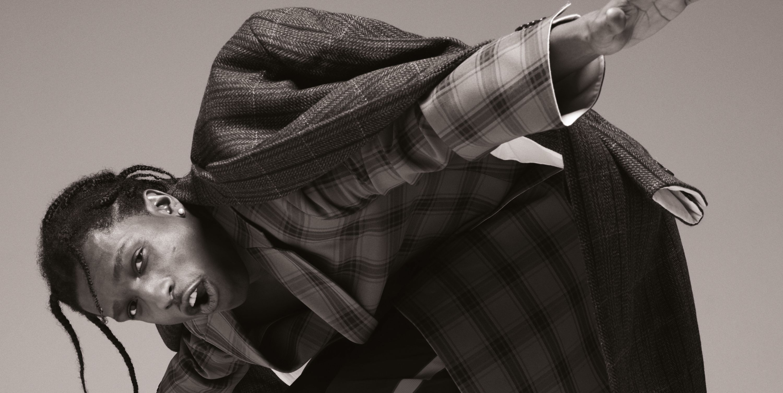 Asap Rocky elegante, traje, estilo, sexy