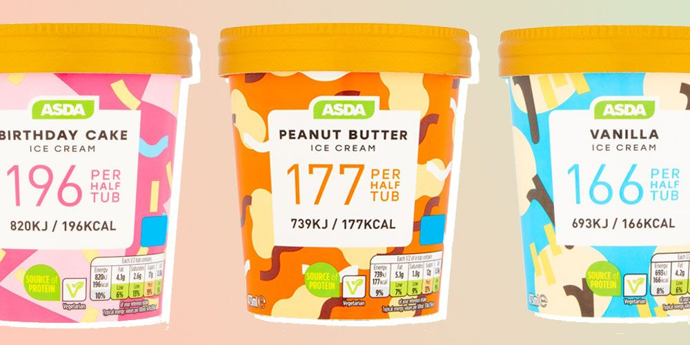 Asda launch ice-cream at under 400 calories a tub