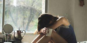vrouw-triest