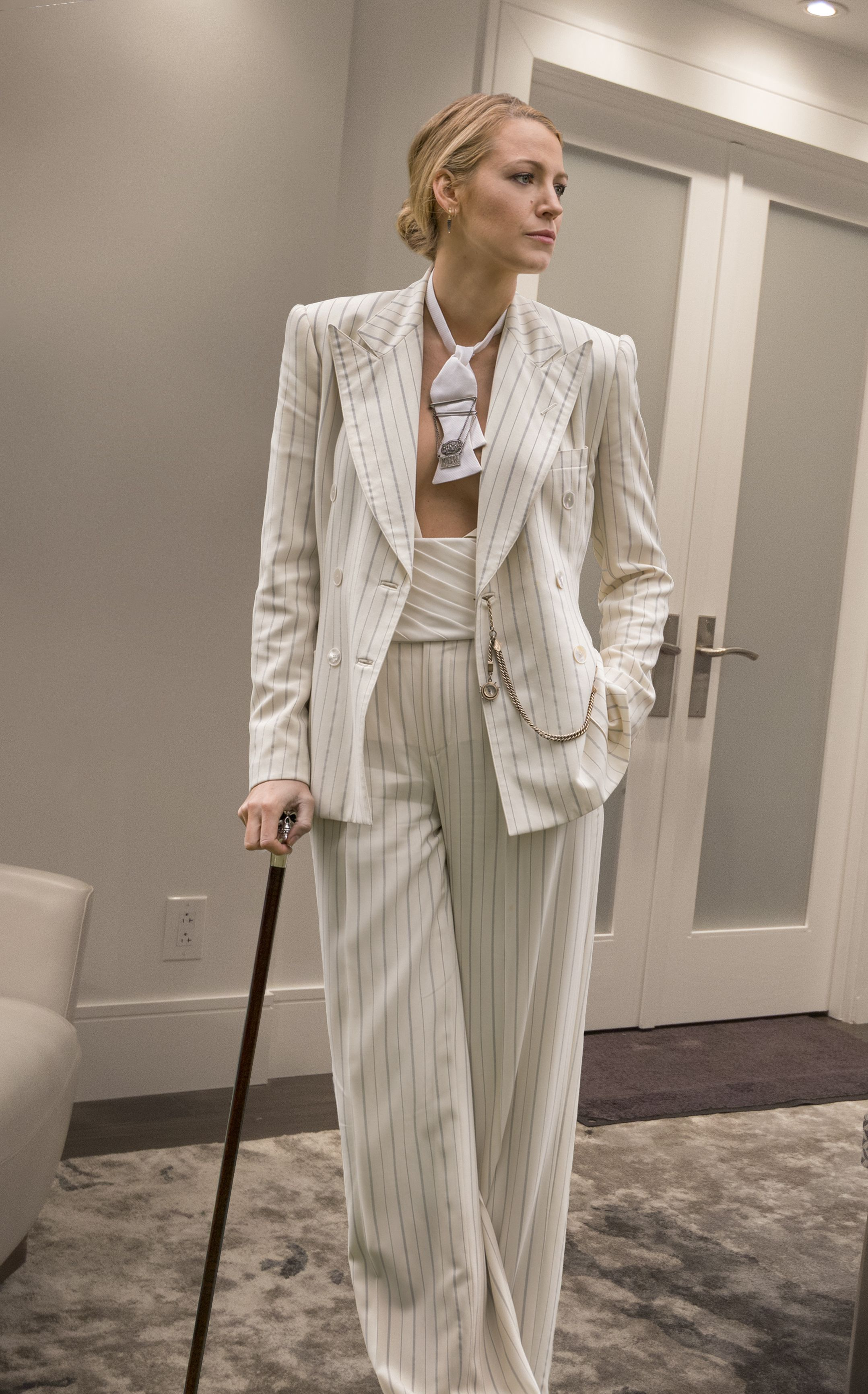 A Simple Favor Designer Breaks Down Blake Lively S Pantsuits