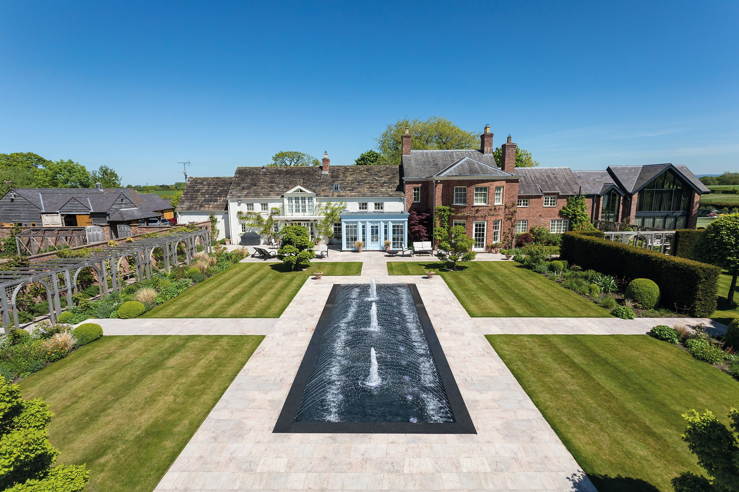 Exquisite Georgian property with award-winning gardens for sale in Cheshire