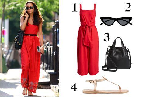 Clothing, Red, Dress, Pink, Fashion model, Fashion, Formal wear, Footwear, Street fashion, Shoulder,