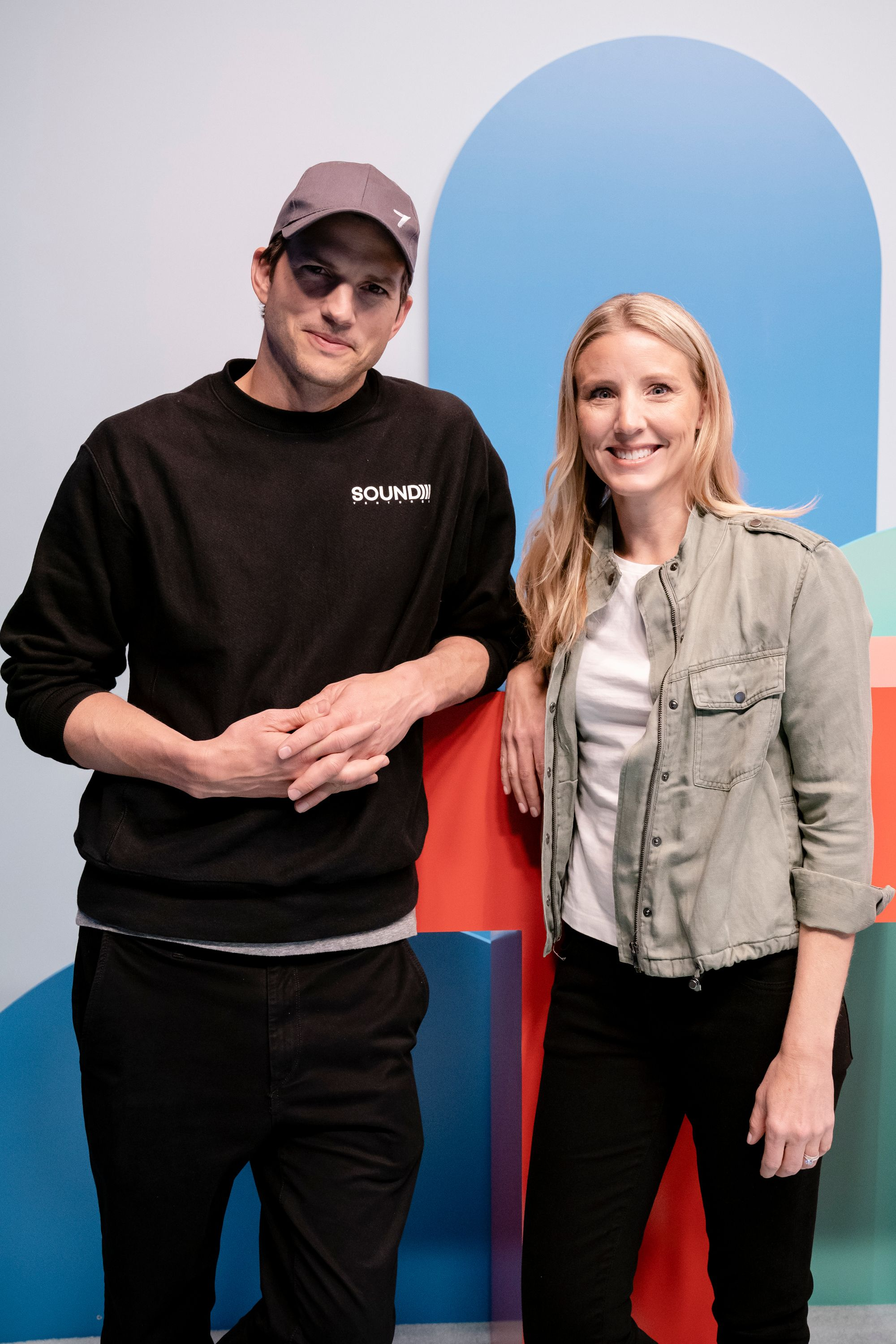 Thorn co-founder Ashton Kutcher and the author, Thorn CEO Julie Cordua.