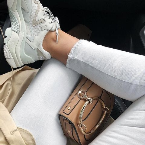 White, Glove, Footwear, Arm, Joint, Beige, Shoe, Fashion accessory, Fashion, Hand,