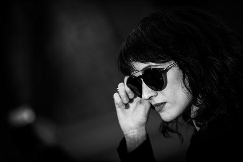 Eyewear, Sunglasses, Black, Face, White, Glasses, Black-and-white, Monochrome, Cool, Lip,