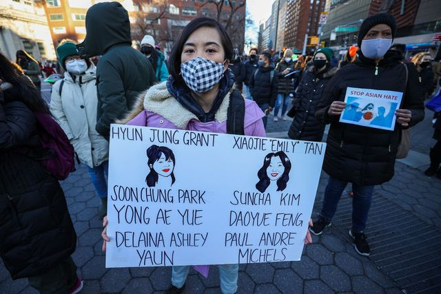 peace vigil for victims of asian hate in nyc
