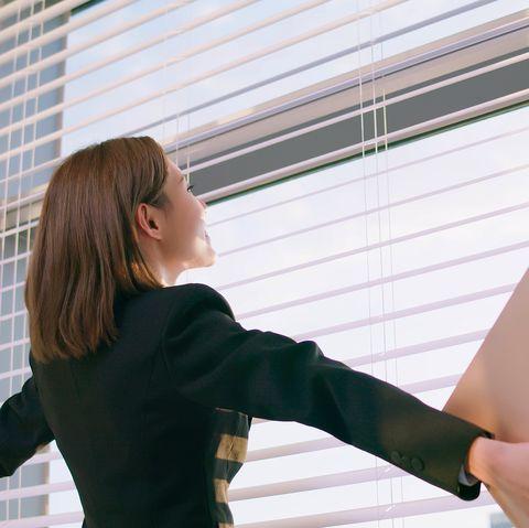asian businesswoman feel relax
