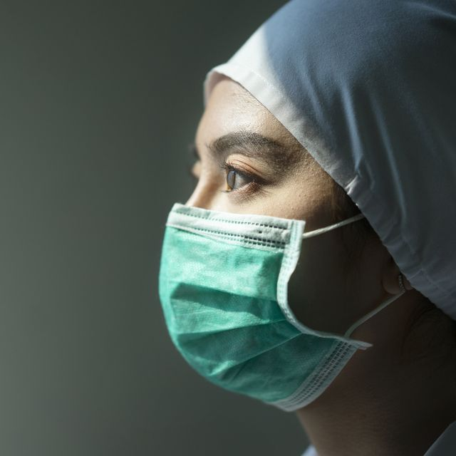 asian female doctor wearing surgical mask for coronavirus outbreak or covid 19, concept of covid 19 quarantine