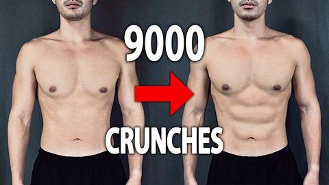 30日間,300回のクランチ,毎日続けてた,腹筋,効果,crunches,