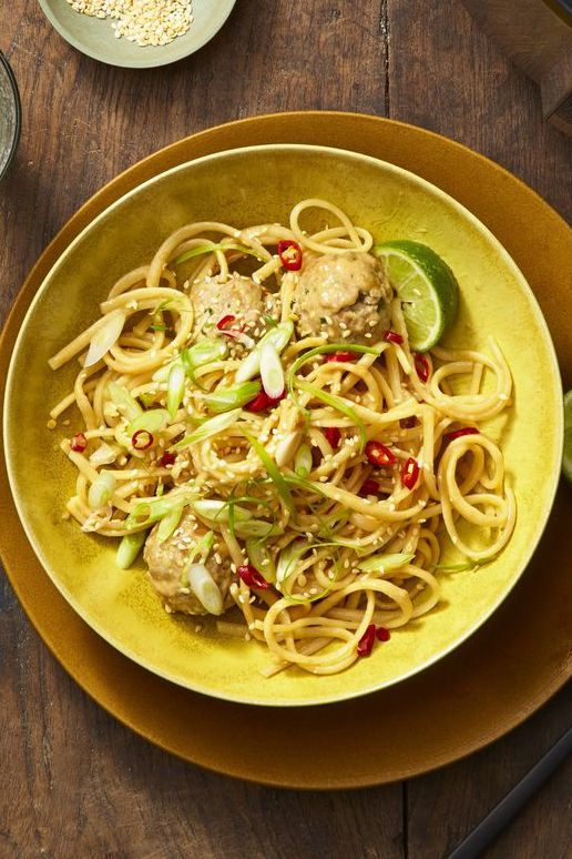 Instant Pot recipes -Asian Noodles and Meatballs