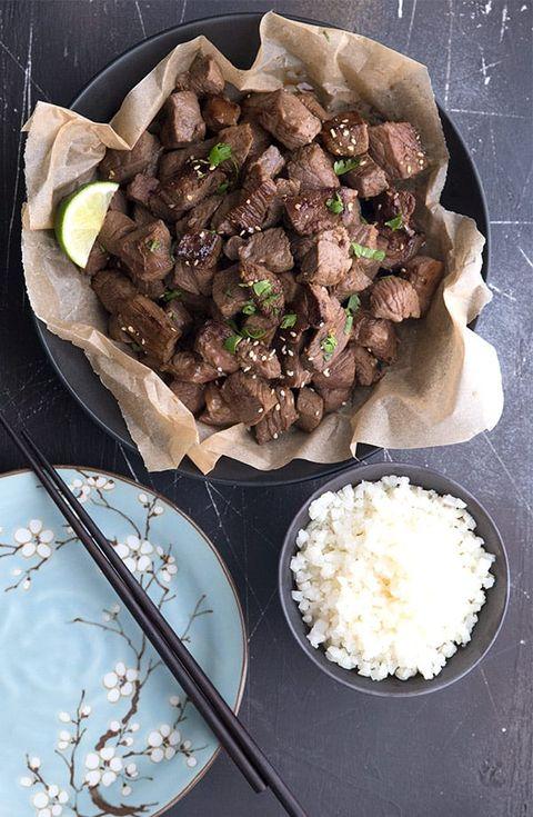 keto asian steak bites