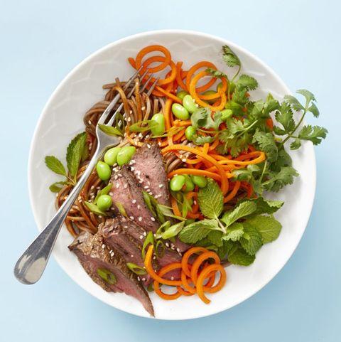Asian Steak Noodle Bowl - Idées pour un déjeuner santé