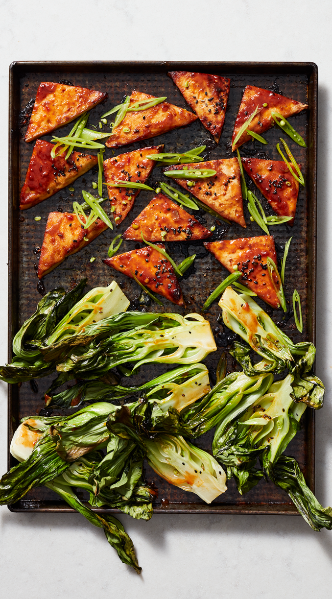 Asian Tofu With Baby Bok Choy
