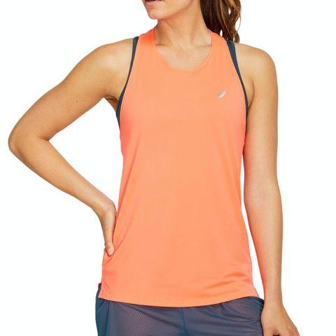 asics race singlet dames oranje hardloopshirt hardloopkleding topje singlet top