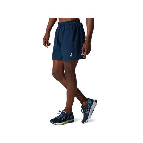 asics icon shorts 7in hardloopshorts blauw heren mannen hardlopen hardloopkleding