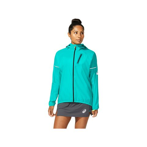asics fujitrail™ jacket hardloopjack blauw hardlopen hardloopkleding jack