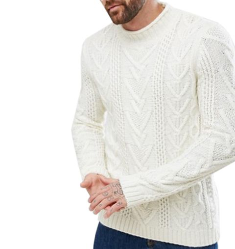 Clothing, White, Sleeve, Sweater, Neck, Long-sleeved t-shirt, T-shirt, Beige, Outerwear, Arm,