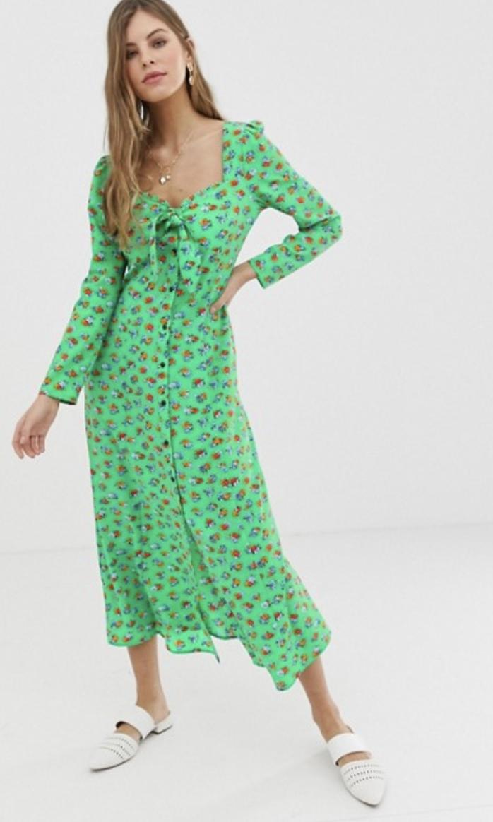 Bloem-jurk-met-strik