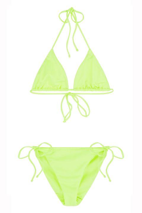 ASOS neon triangle bikini