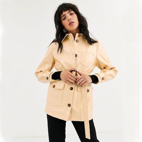 Topshop vinyl jacket