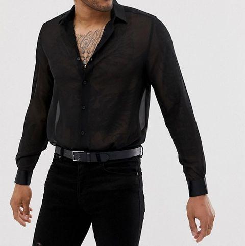 camisa transparente