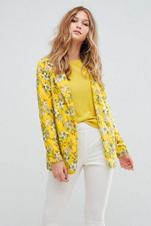 asos floral blazer