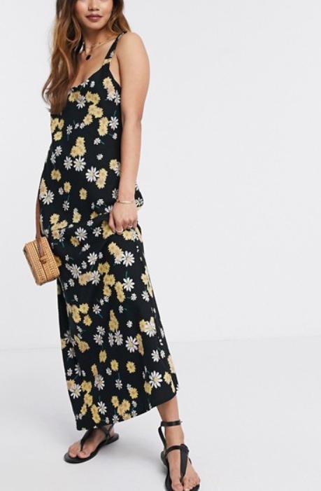 strappy dress asos bloemen trend