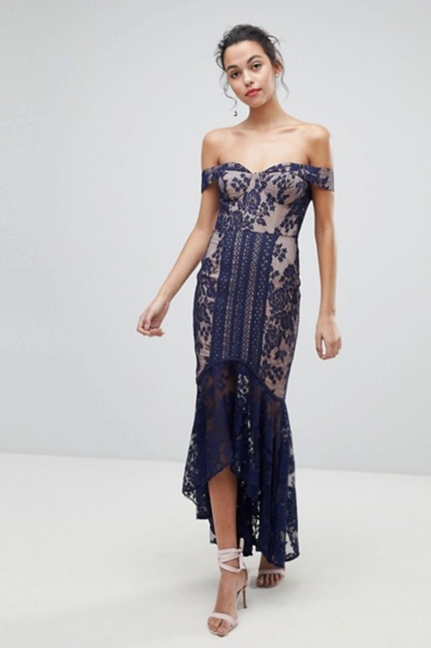 asos lace fishtail dress