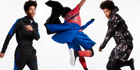 Hip-hop dance, Dancer, Street dance, Jumping, Fashion, Dance, Performing arts, Choreography, Suit, Gesture,