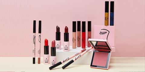 Red, Pink, Product, Beauty, Cosmetics, Lipstick, Brown, Eye liner, Liquid, Material property,