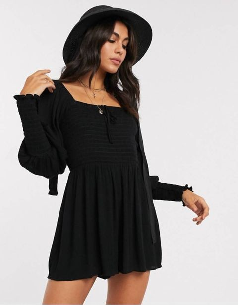 asos zwarte playsuit