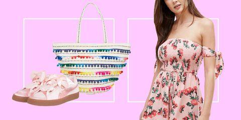Pink, Shoulder, Bag, Clothing, Handbag, Diaper bag, Joint, Fashion accessory, Tote bag, Peach,